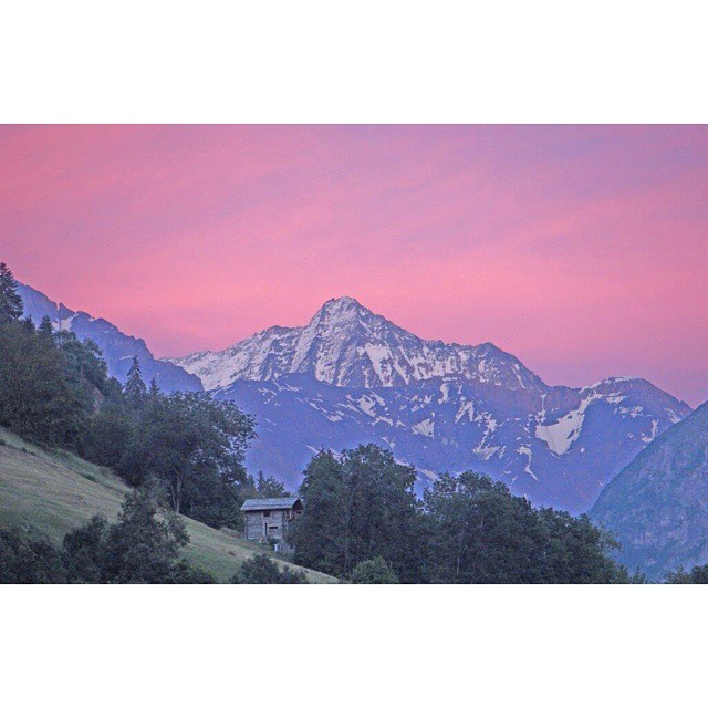 Terrace sunset at #RidersNest #valdebagnes #valais #wallis #switzerland