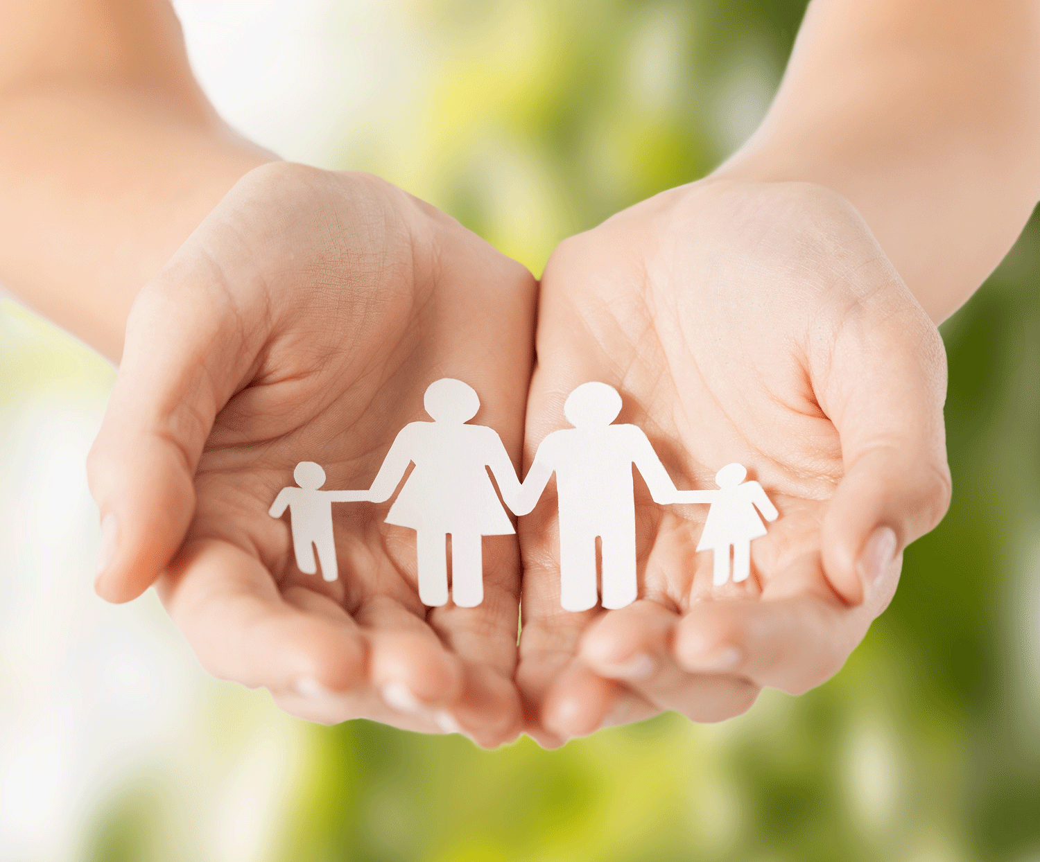 family in hands