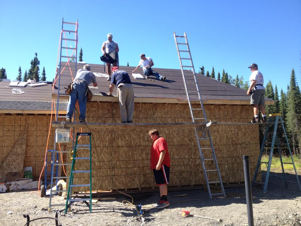 Last year's mission team to Funny River Bible Church in Alaska finished shower facilities to the church, installed tile, and did various projects for people in the community.