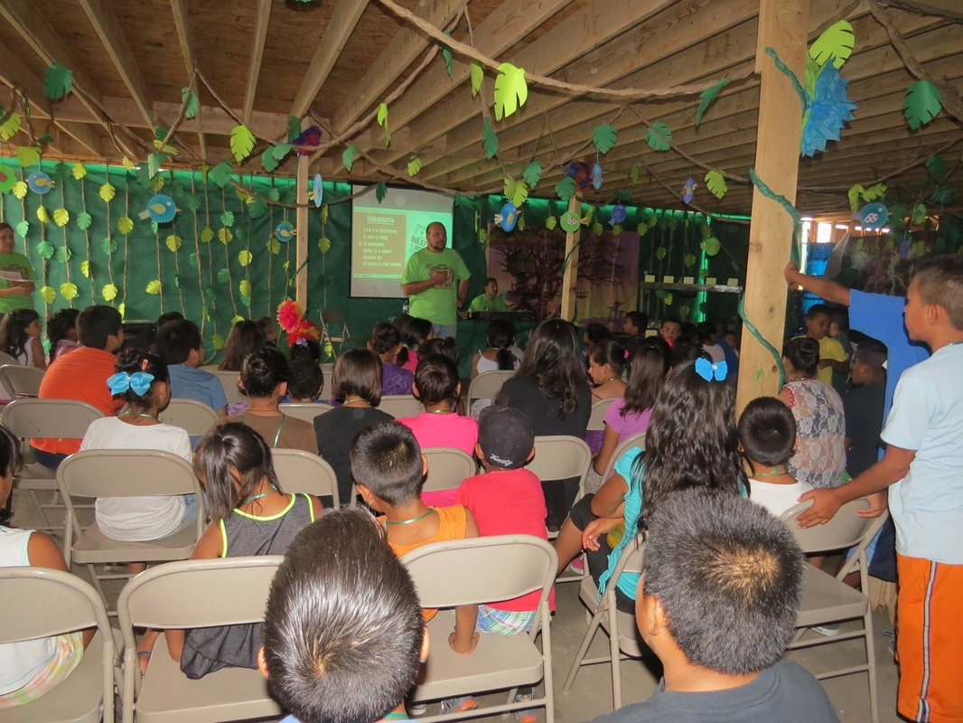 Last year's VBS packing into the brand new building's first floor