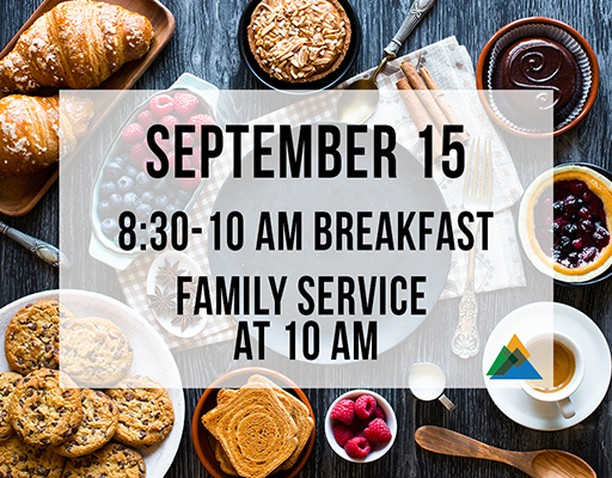 Don't forget, tomorrow is one service at 10 am (and breakfast, but come early!)