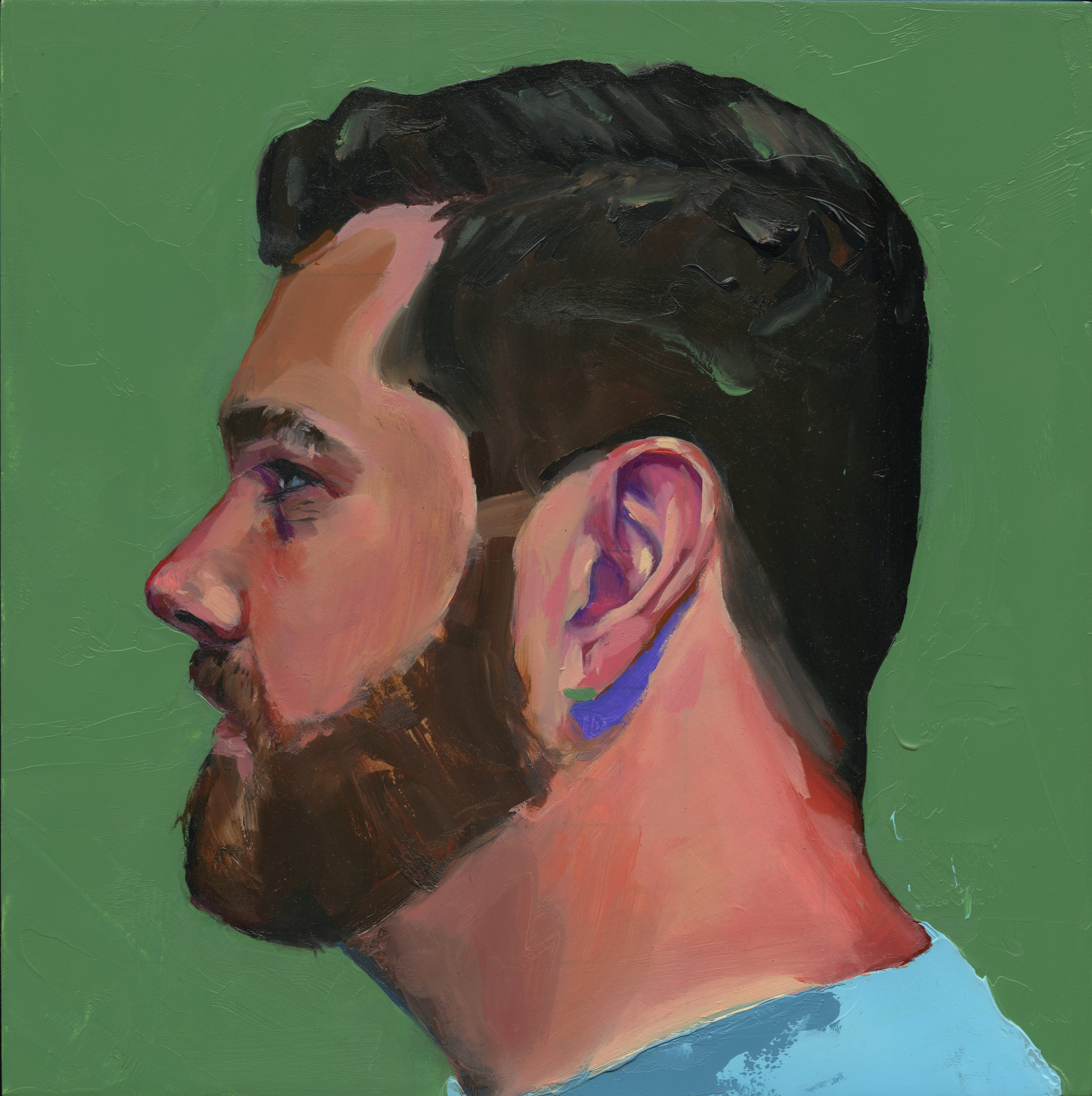 Profile Paintings - are a series of portraits with an aim to accomplish what our collection of online