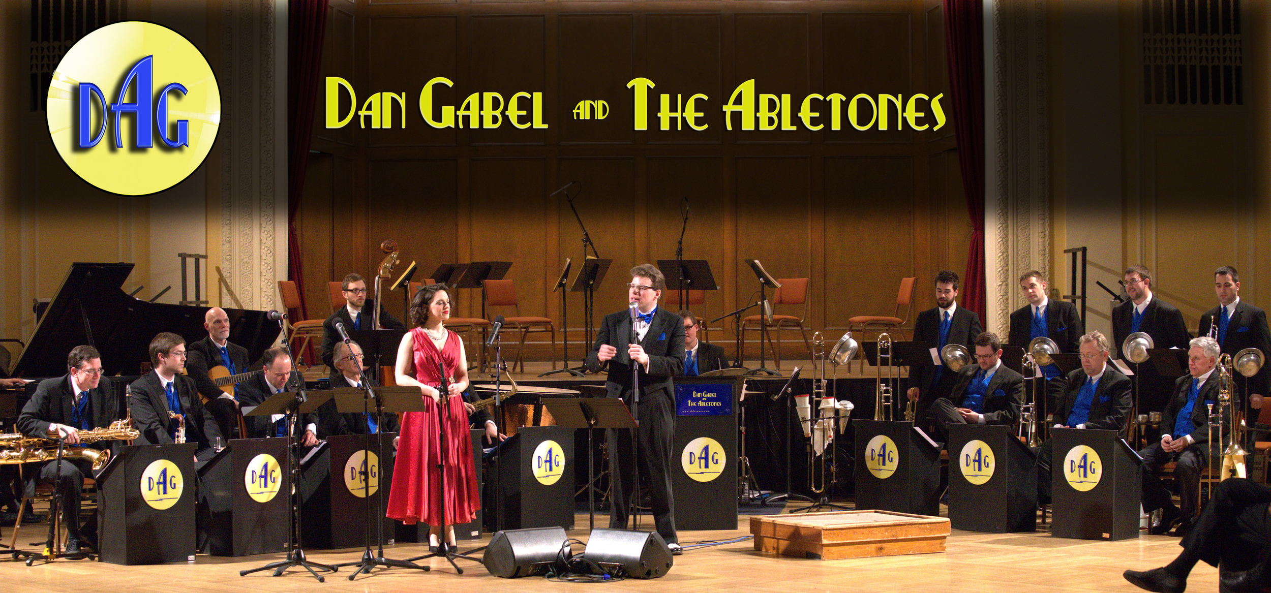 DAN GABEL and The ABLETONES  -  Authentic 18-piece Big Band featuring vocalist Elise Roth