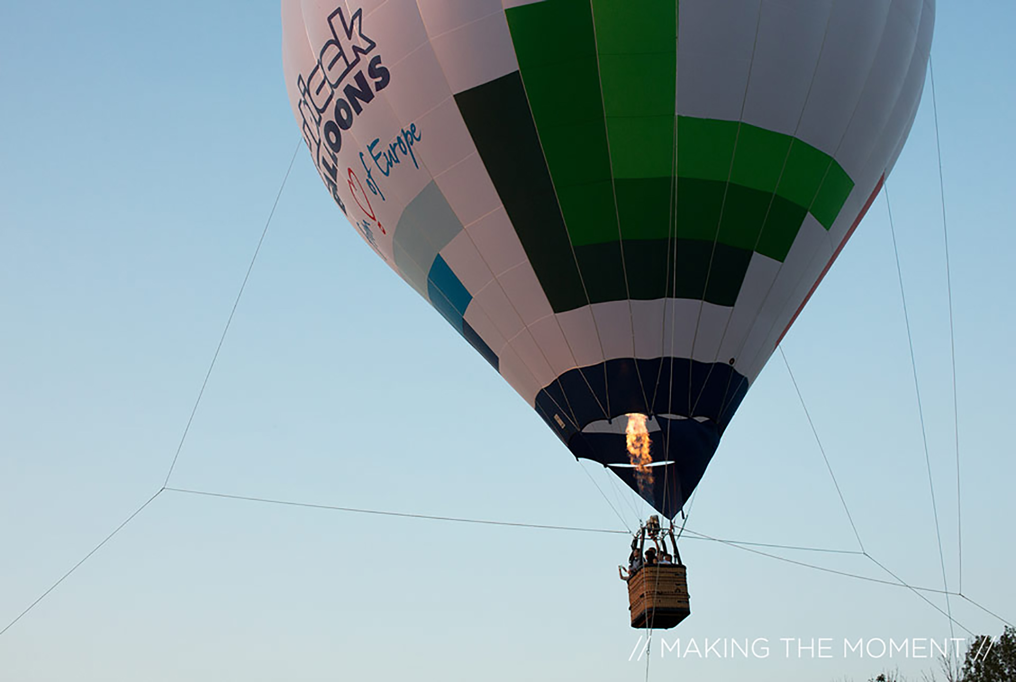 Tent Wedding with a Hot Air Balloon