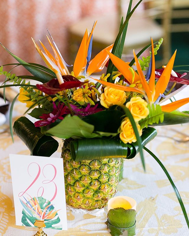 "Summer wedding mode is officially ""engaged"" ☀️ Looking back to this incredible luau rehearsal dinner we planned for Lydia & Chris!🍍🥥 We love these pre and post wedding events because we can play around with fun little details that sometimes aren't the best fit for the actual wedding.  We loved working with this fun couple!❤️Photography: @emiliajane_  Planning: Stephanie @kirkbrides  Flowers: @plantscaping_blooms  Stationery: @lovelysomethingsweddings  Linens: @latavolalinen  Chargers: @alloccasionspartyrental  Lighting: @rthweddings  Live Music: Scott Sopata Duo @clemusicgrp  Venue: @kirtlandcountryclub  Aloha🌺"