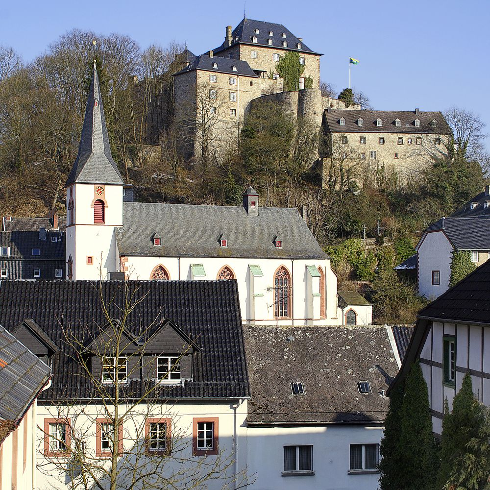 Das Schloss -- the Castle -- sits on the highest ground in Blankenheim, near Trier, Germany's oldest city.