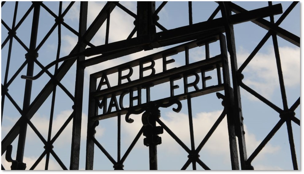"""""""Work sets you free,"""" announced this sign at a Nazi concentration camp. Was that a promise… or a lie? A haven from horror… or the scene of sin?"""