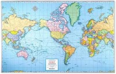 Mercator map of the world