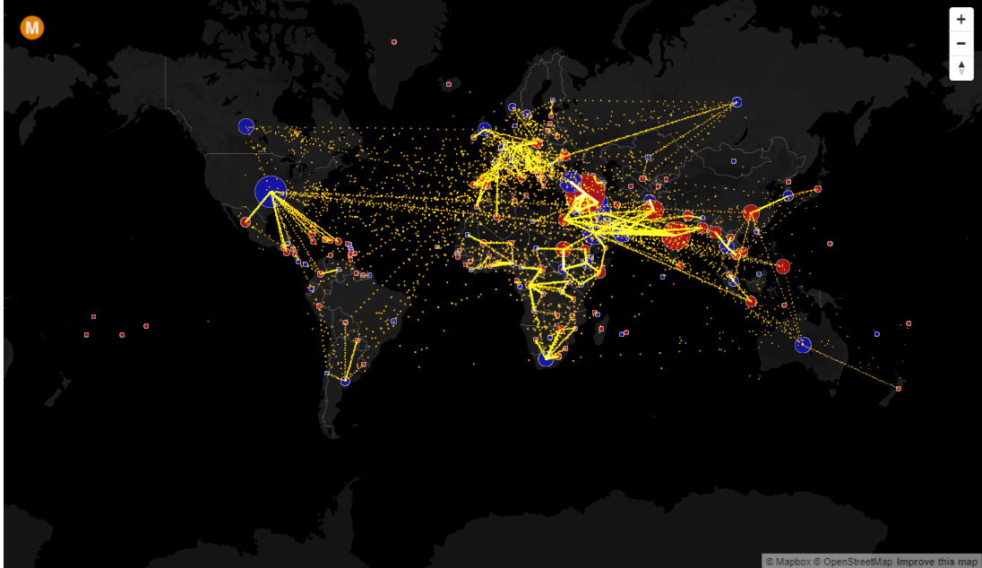 Click on the map for a full-screen, interactive World Migration Map; try zooming in to your home country.
