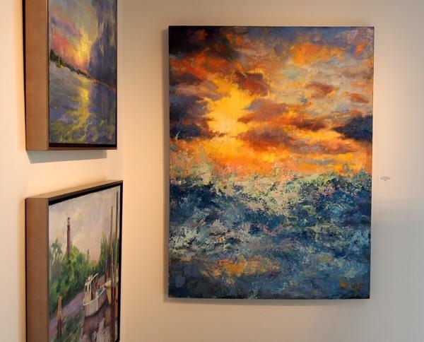 Three of my paintings in Ft. Lauderdale