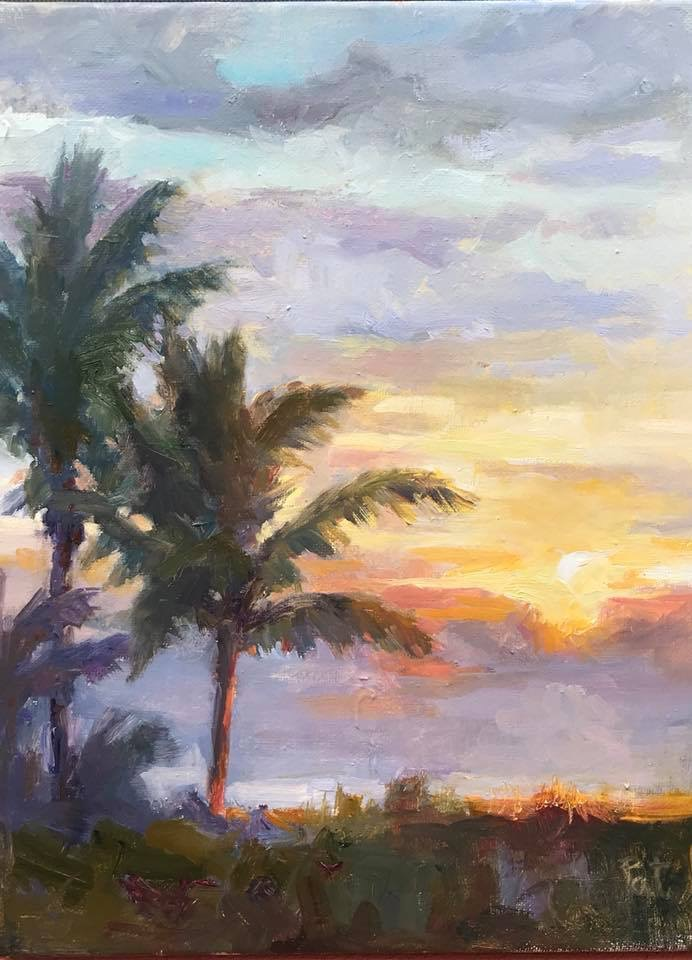 Morning glow, oil on canvas
