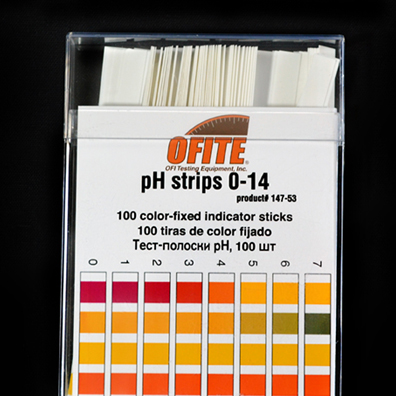 pH TEST STRIPS   Determine the Acidity or Alkalinity of a Drilling Fluid