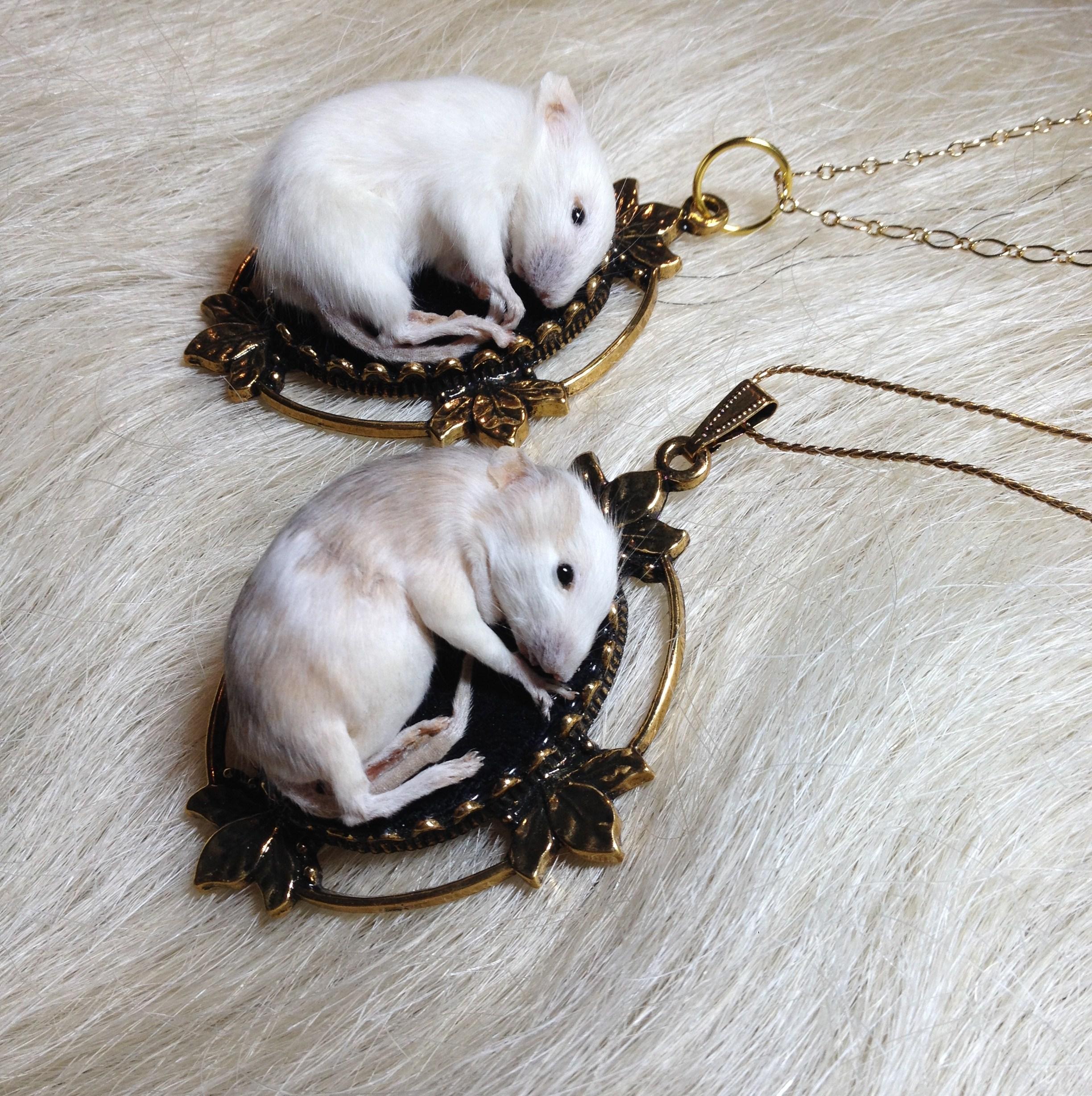 Kitten Mice Necklaces