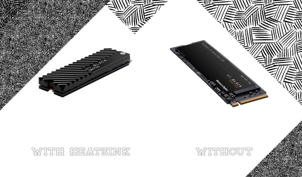 When source photos are too small to be used reasonably in a hero image, landscape the corners with non-distracting black and white patterns. In the associated article for this image, the big difference between the two versions of the product was the heatsink - a tale told in a single jpg.