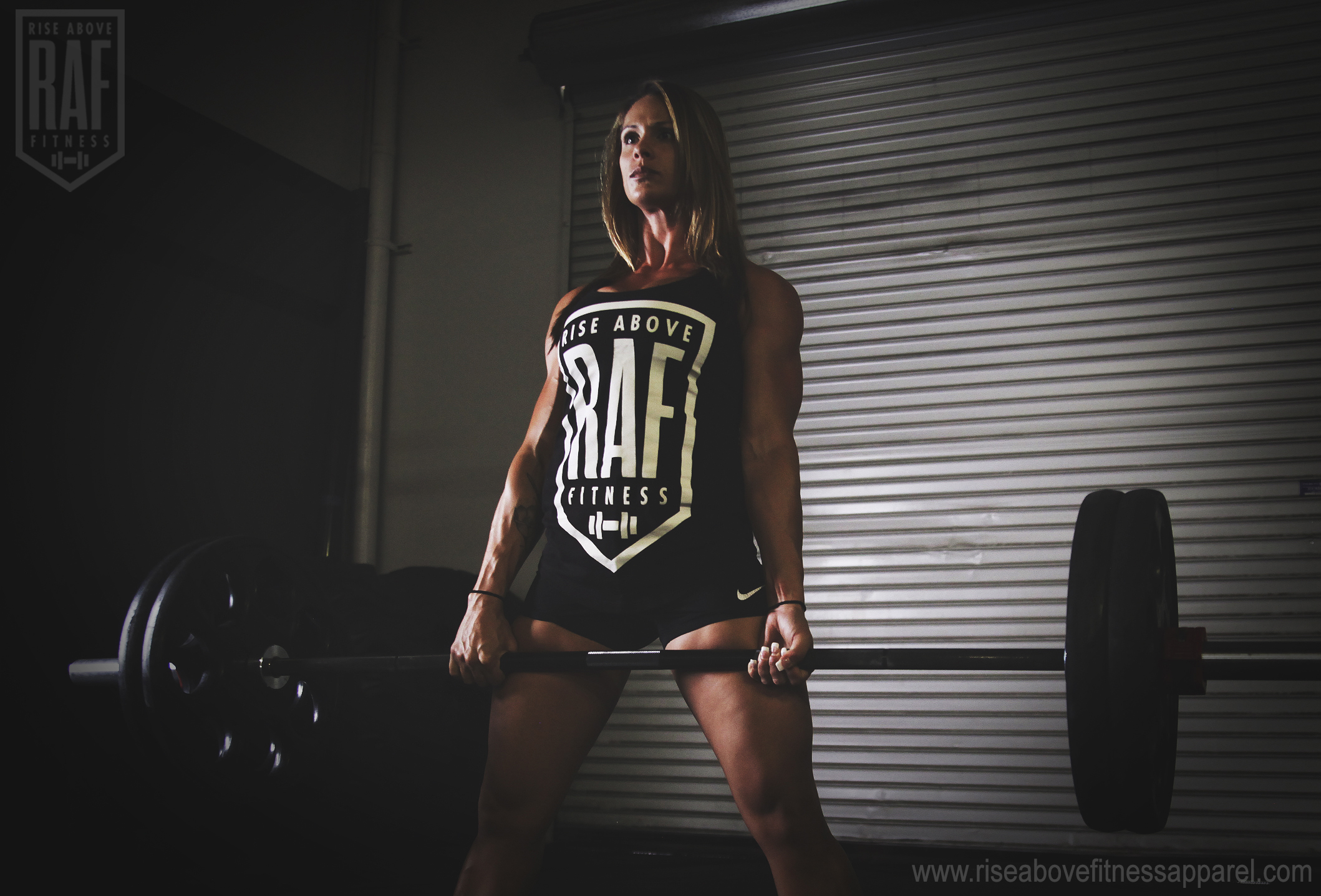 CLASSIC RAF BADGE Women's Racerback (WHITE ON BLACK)_SHOOT.jpg