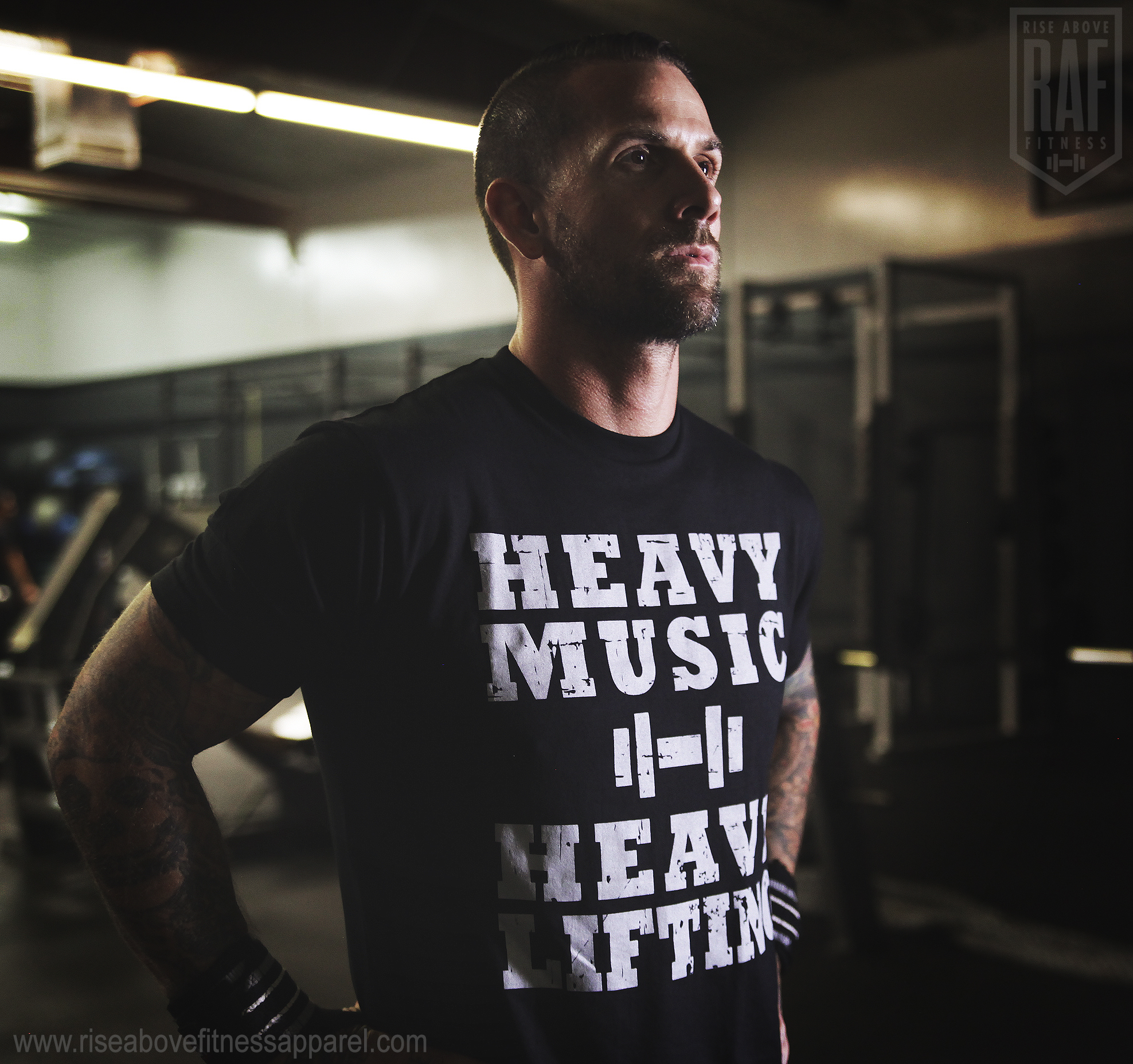 HEAVY MUSIC Men's Tee (Grey on Black)_SHOOT.jpg
