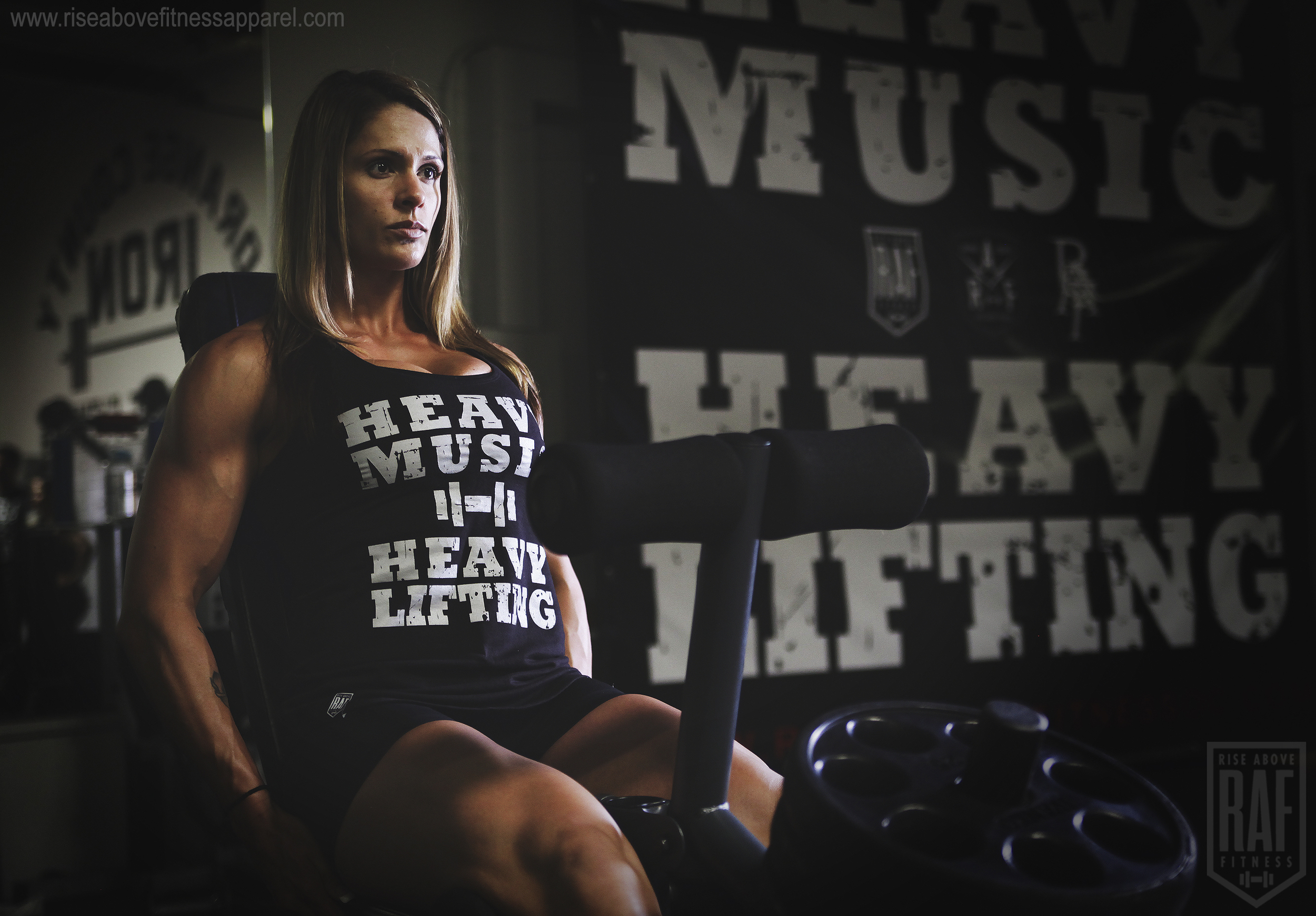 HEAVY MUSIC Women's Racerback (WHITE on Black)_SHOOT.jpg