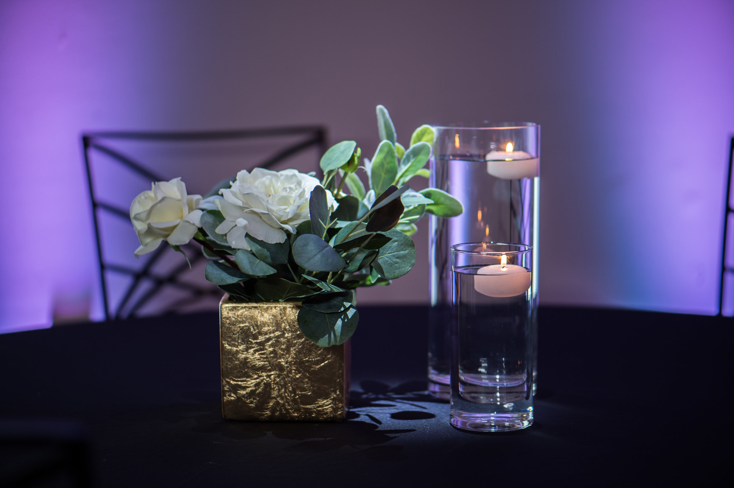 Gold White with Eucalyptus Floating Candles.jpg