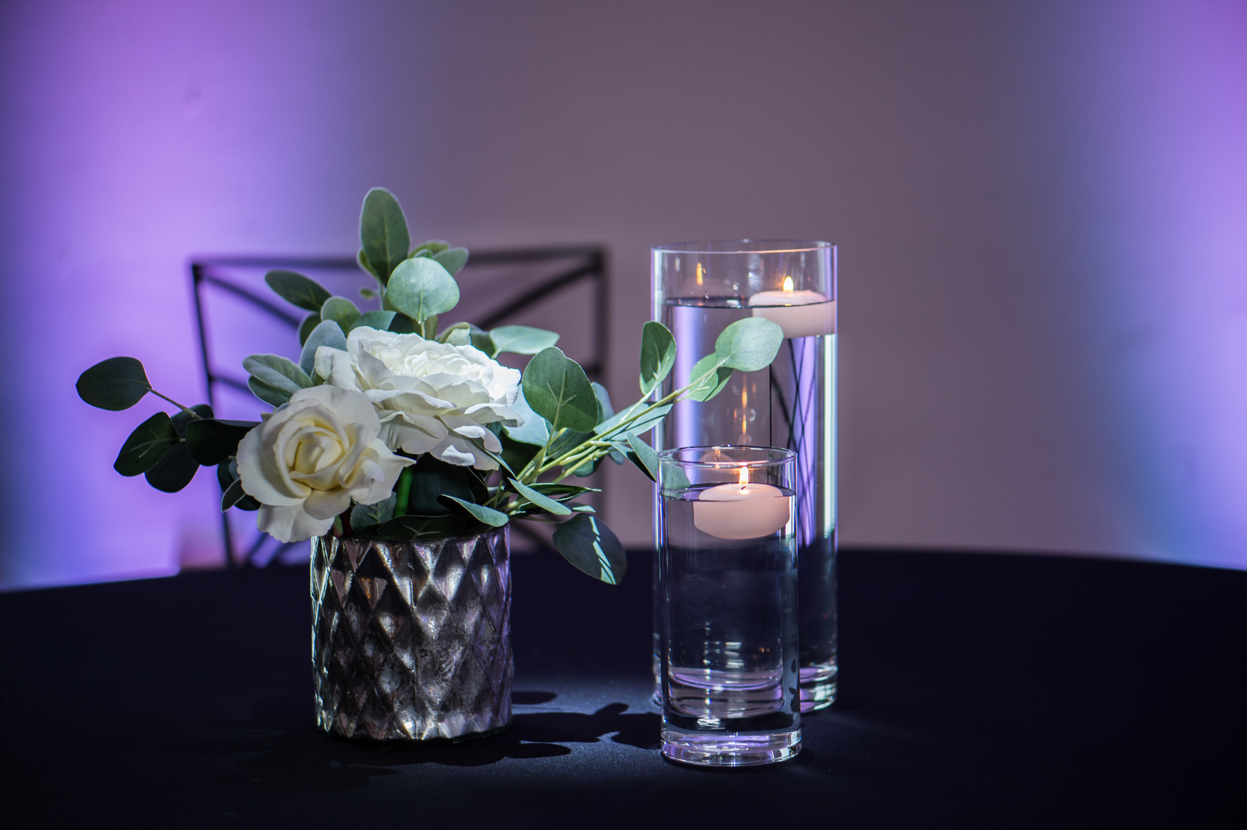 Silver White with Eucalyptus Floating Candles.jpg
