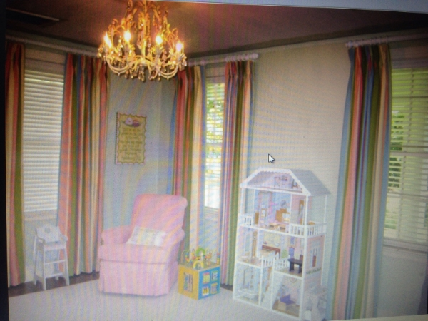 Playroom design when we purchased the house.