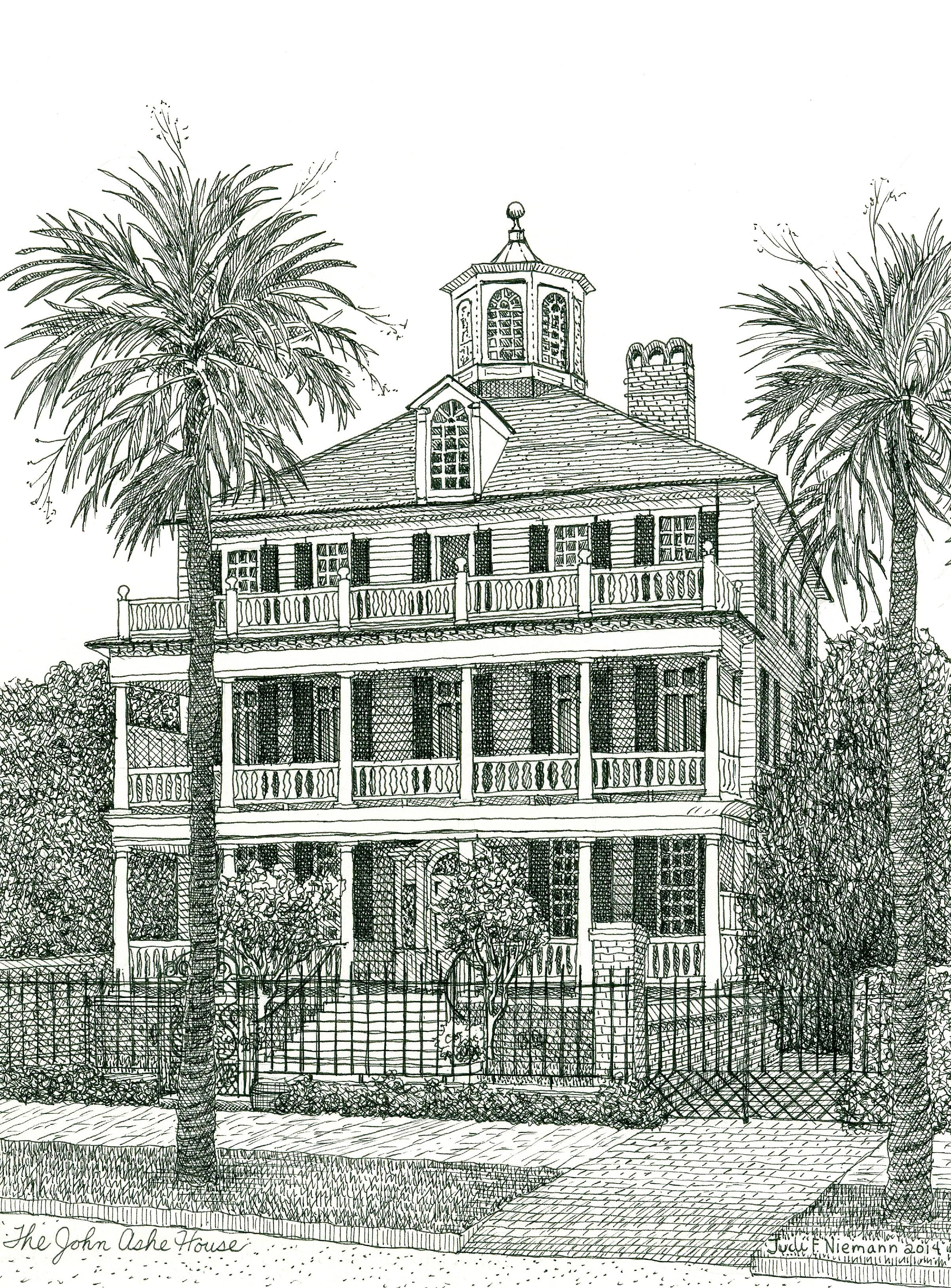 The John Ashe House, Battery Row, Charleston, SC