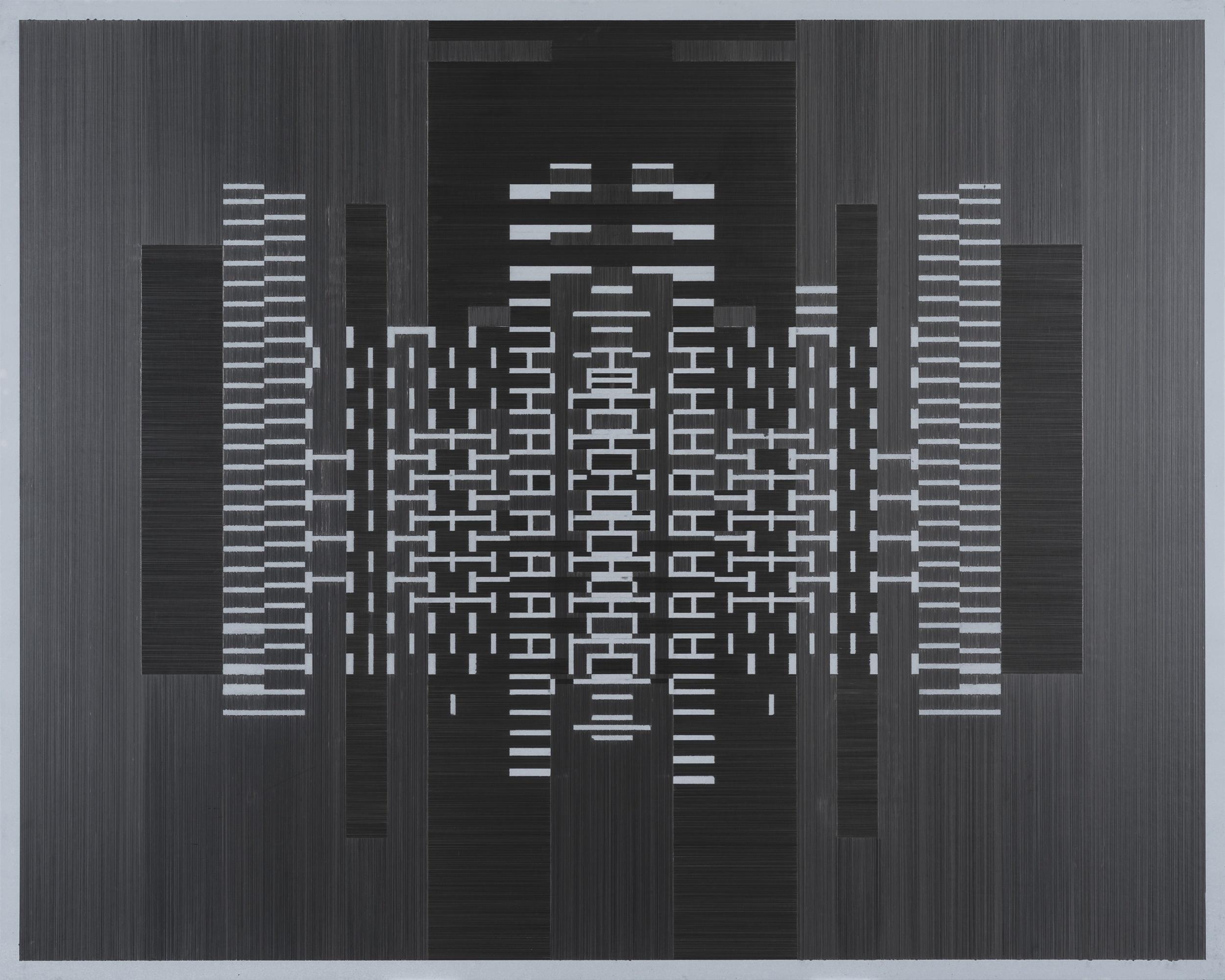 Joseph Huppert,  UntitledI  , 2015,   graphite on mylar,40 x 60 inches