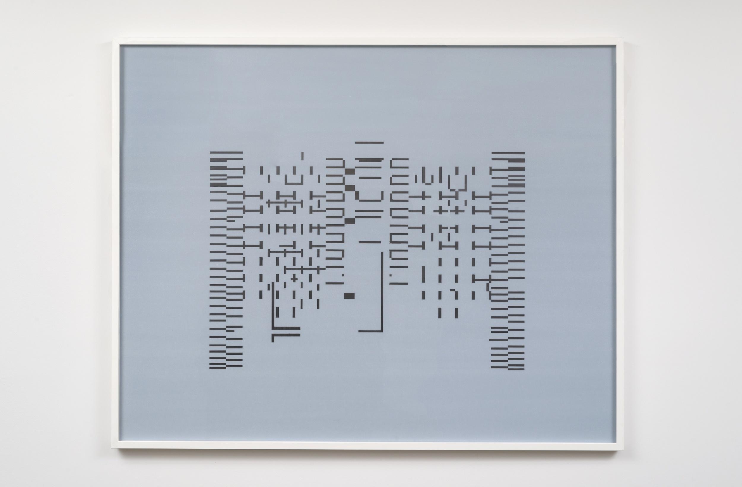 Joseph Huppert, Untitled IV  , 2015,   graphite on mylar,  40 x 60 inches