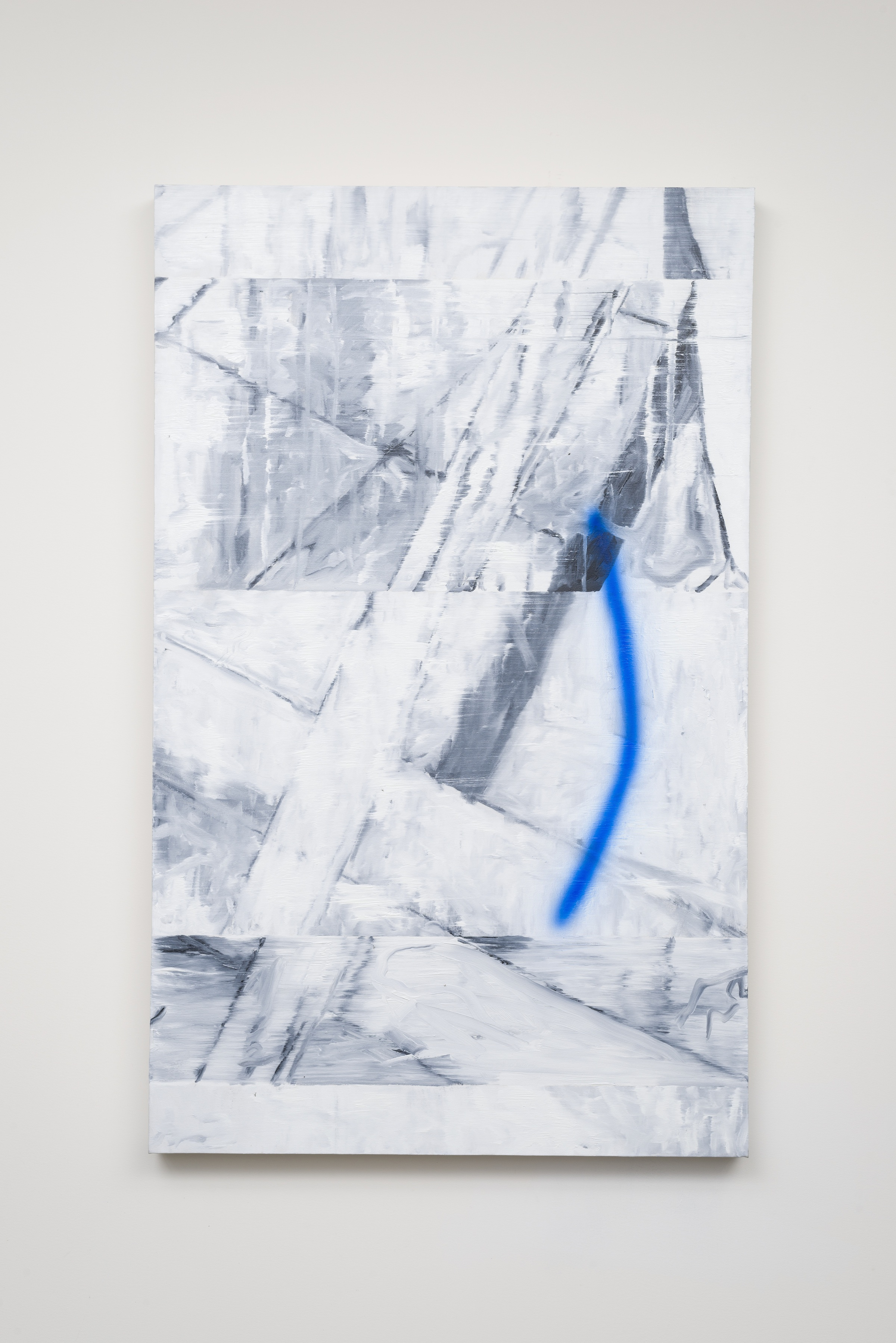 Jason Burgess,  last four years less blurred , oil on canvas, 42 x 30 inches