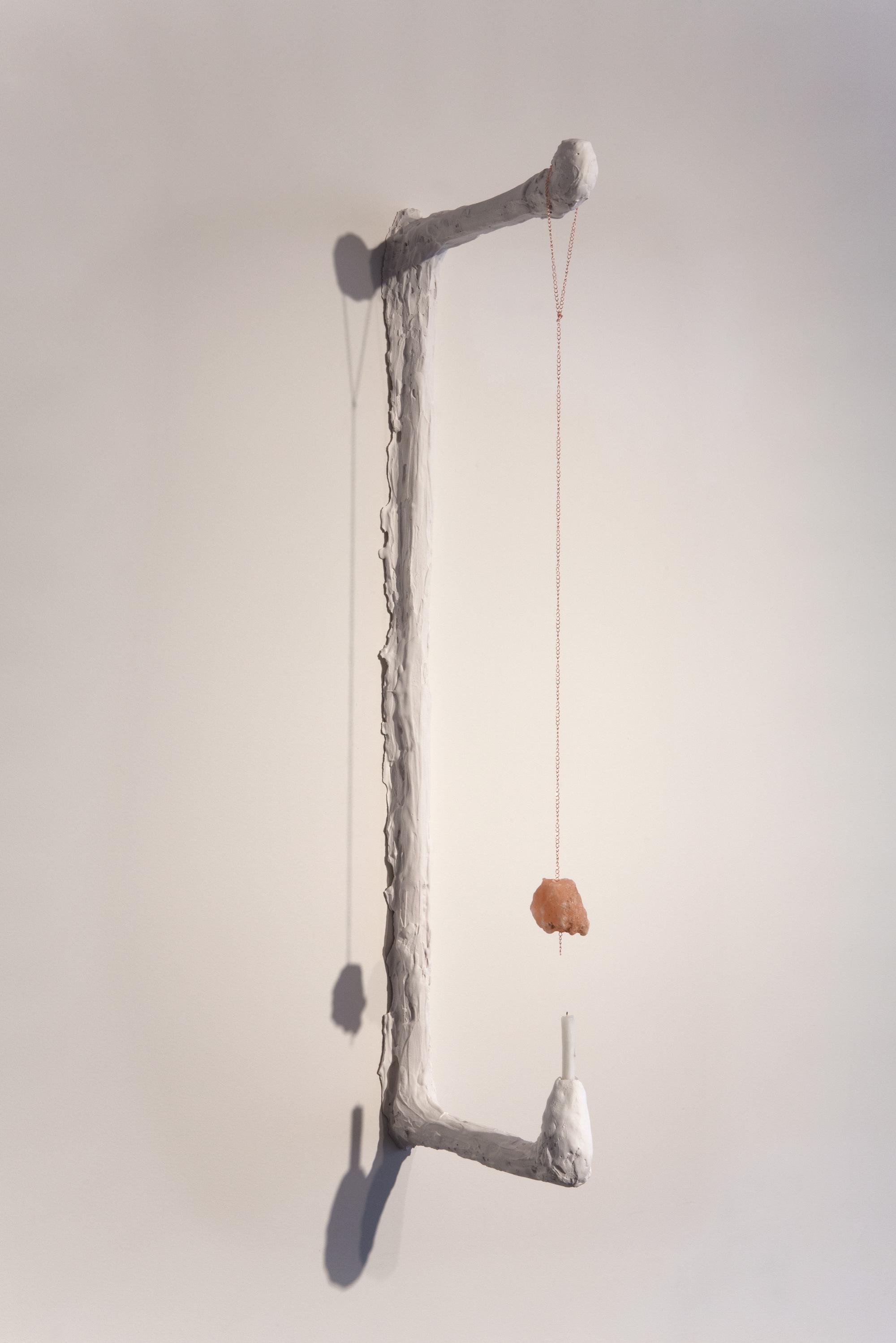 Kathryn O'Halloran, Rock Salt Scone, 2015, plaster, chain, Himalayan rock salt