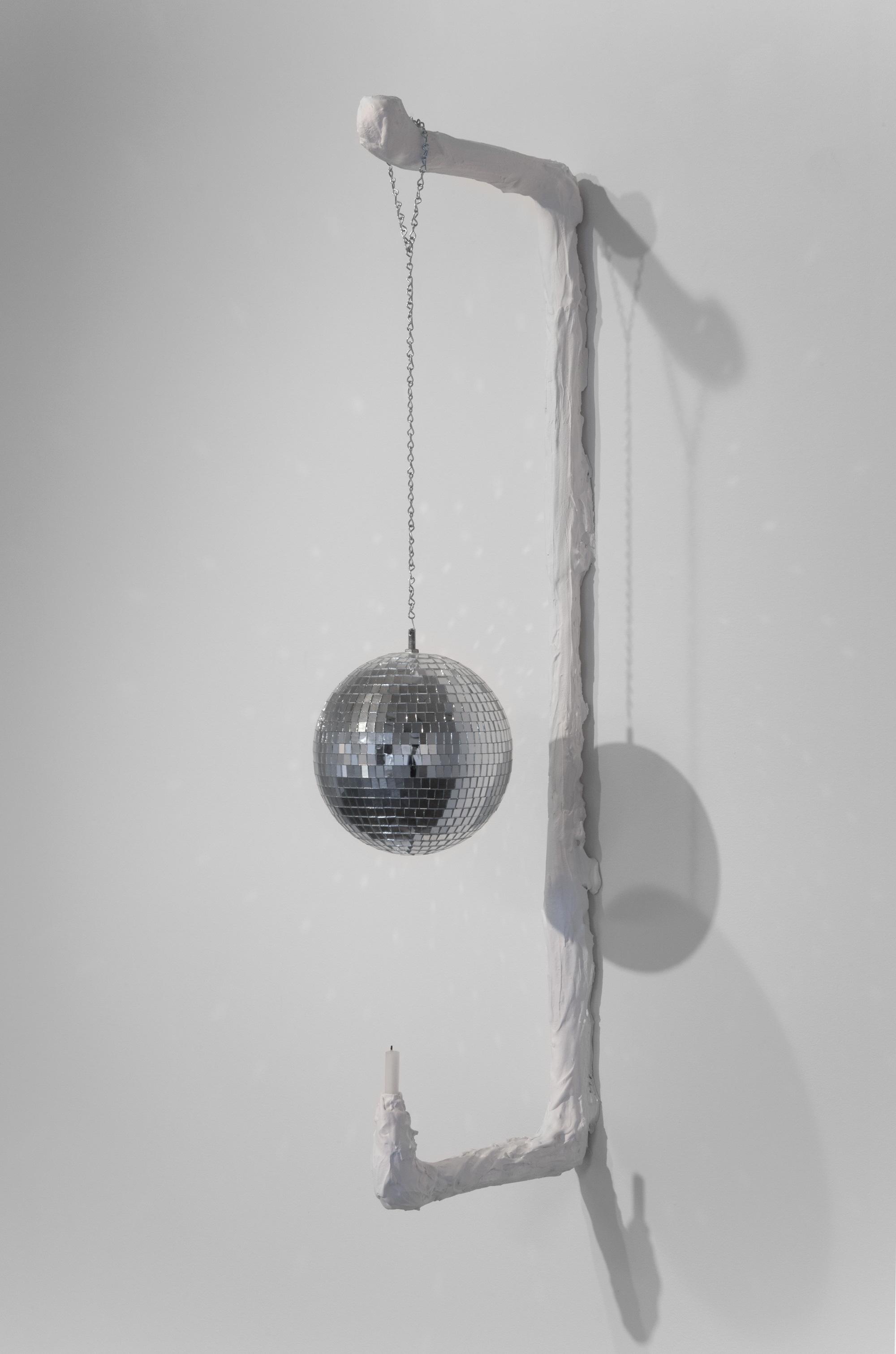 Kathryn O'Halloran,  Dance Scone , 2015, plaster, chain, disco ball