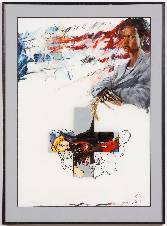 Ed Bereal, America's Self Portrait; Mona Lisa/ Condoleezza Angel of Darkness, 2004