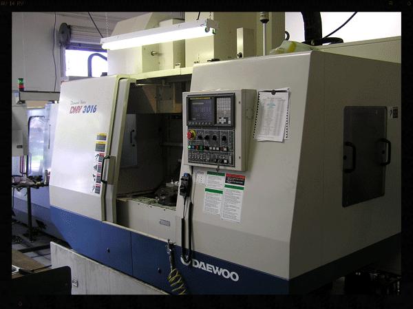 2000 Daewoo Machining Center  30x16x20, 25 Tool, 40 HP