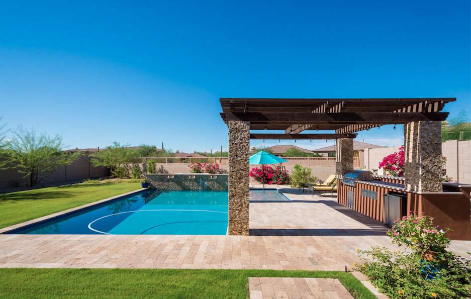 Scottsdale grand backyard BBQ and separate guest casita at Windgate Ranch $1,300,000.png