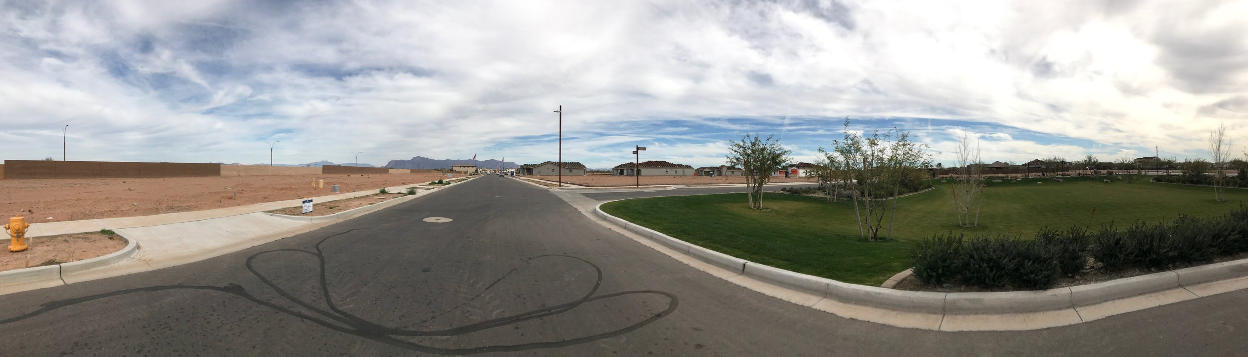 Our lot is off to the left with a nice park across the street! This section will be all single story homes.