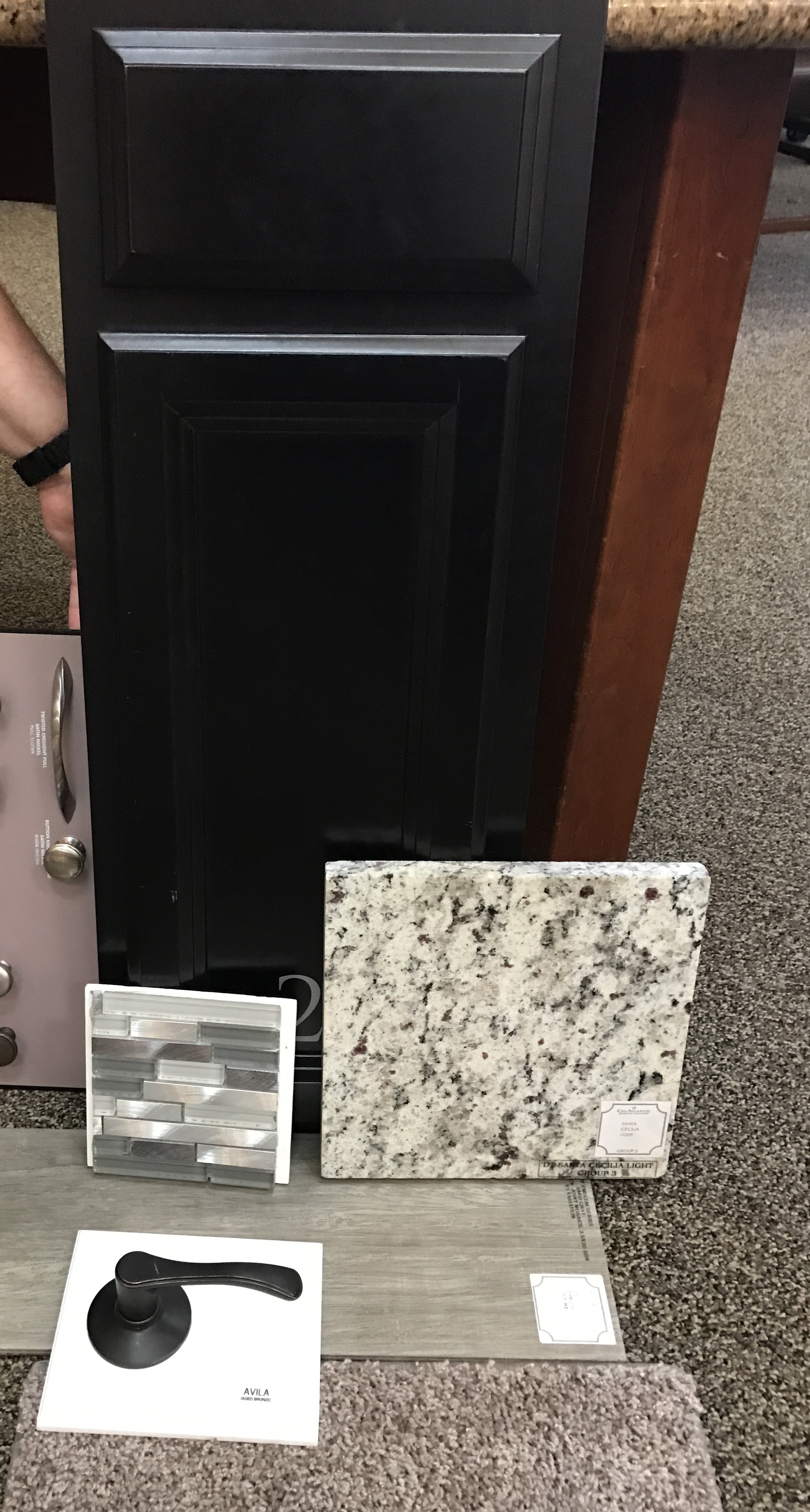 Here are our final choices! We also did one of those awesome black granite composite sinks. I can't WAIT to see it all together!