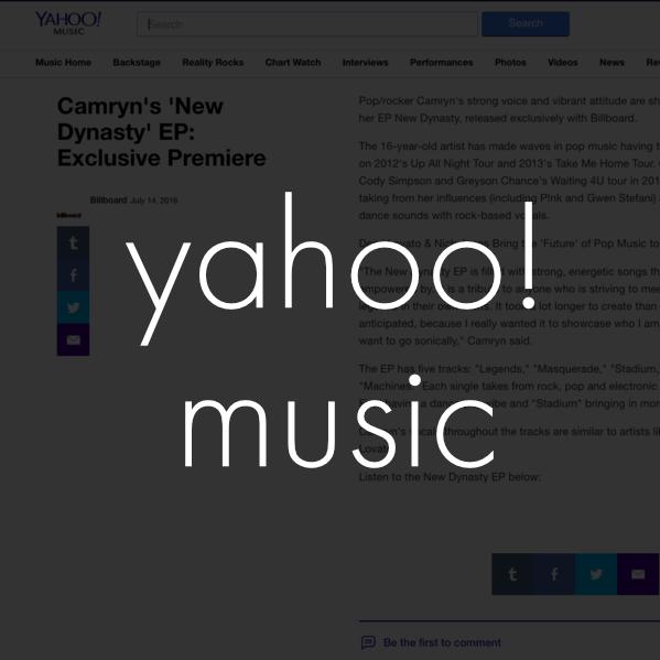 Copy of camryn yahoo! music