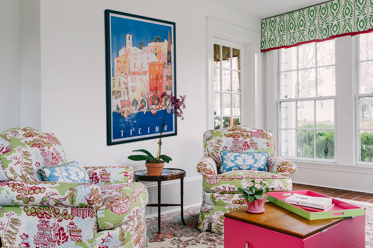 Colorful Colonial Home by Palley & Southard Designs
