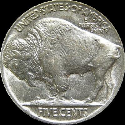 Buffalo nickel, made of 25% nickel.