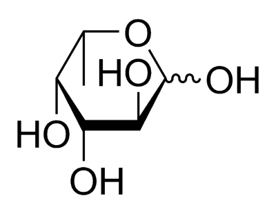 Chemical structure of fucose molecule