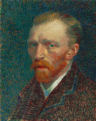 Self-portrait of Vincent van Gogh, who likely had schizophrenia