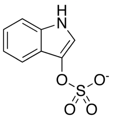 Molecular structure of indoxyl-sulfate