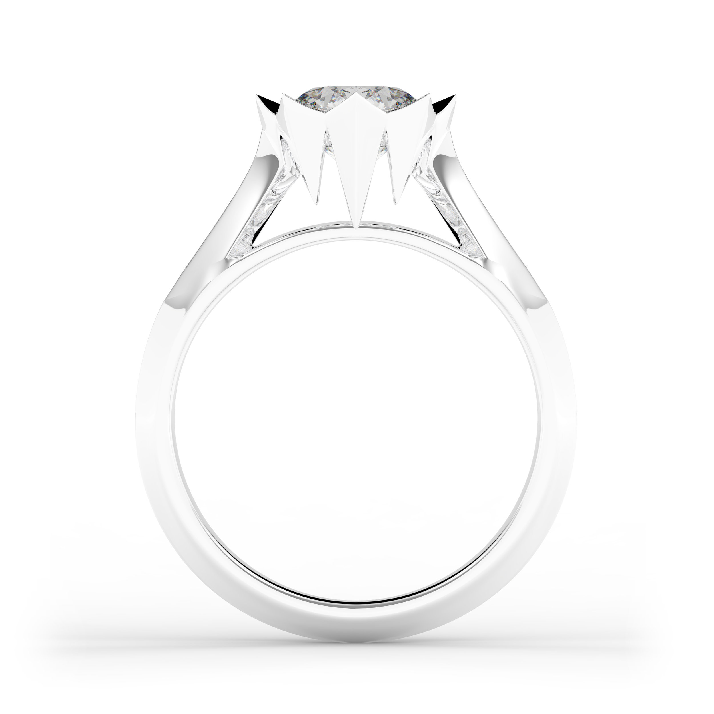 Fire 1 Engagement Ring
