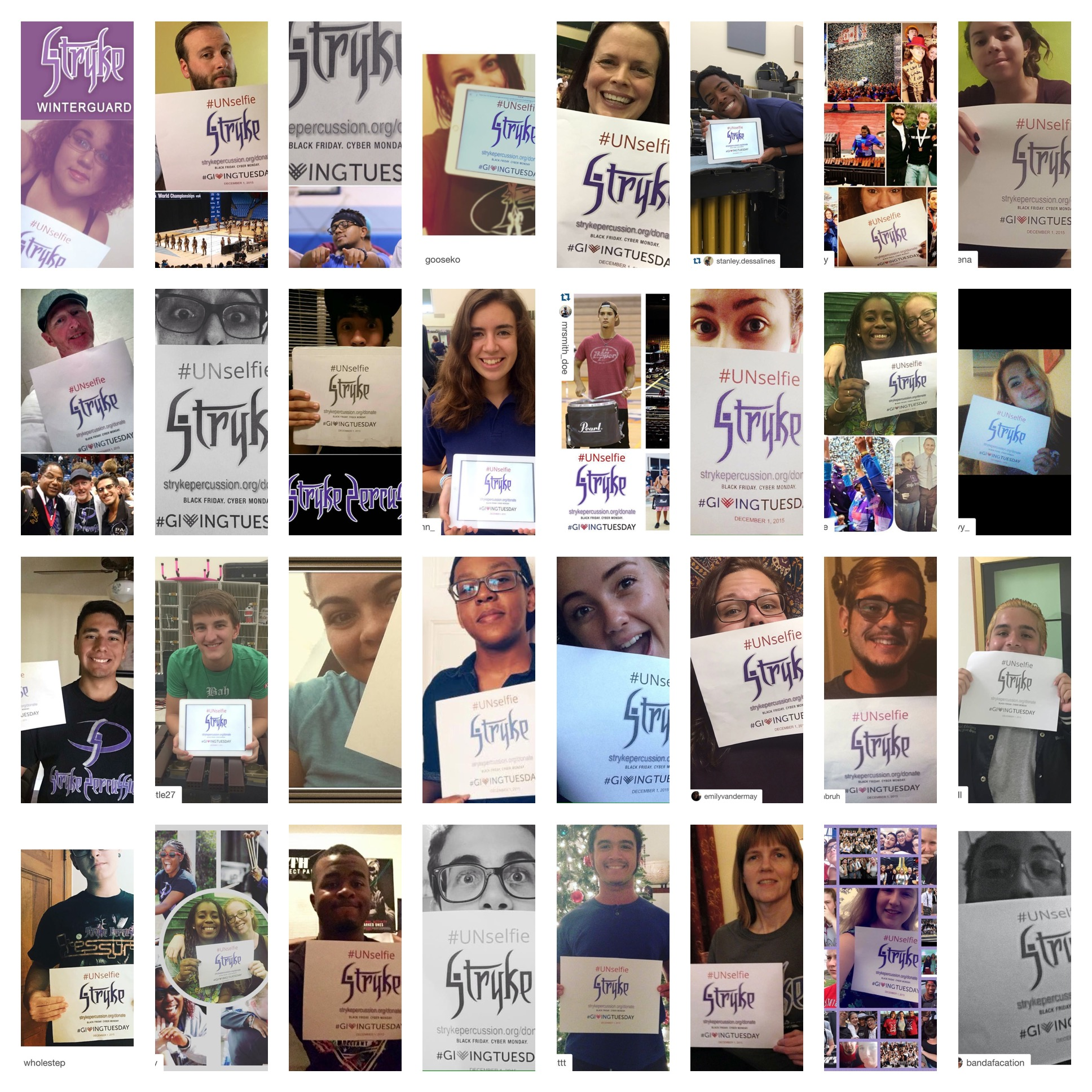 Here are some of the STRYKE #Unselfies that were posted on #GivingTuesday. Read their testimonies  here.