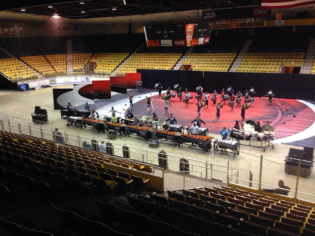 SPW rehearsing at the Hara Arena on Tuesday night