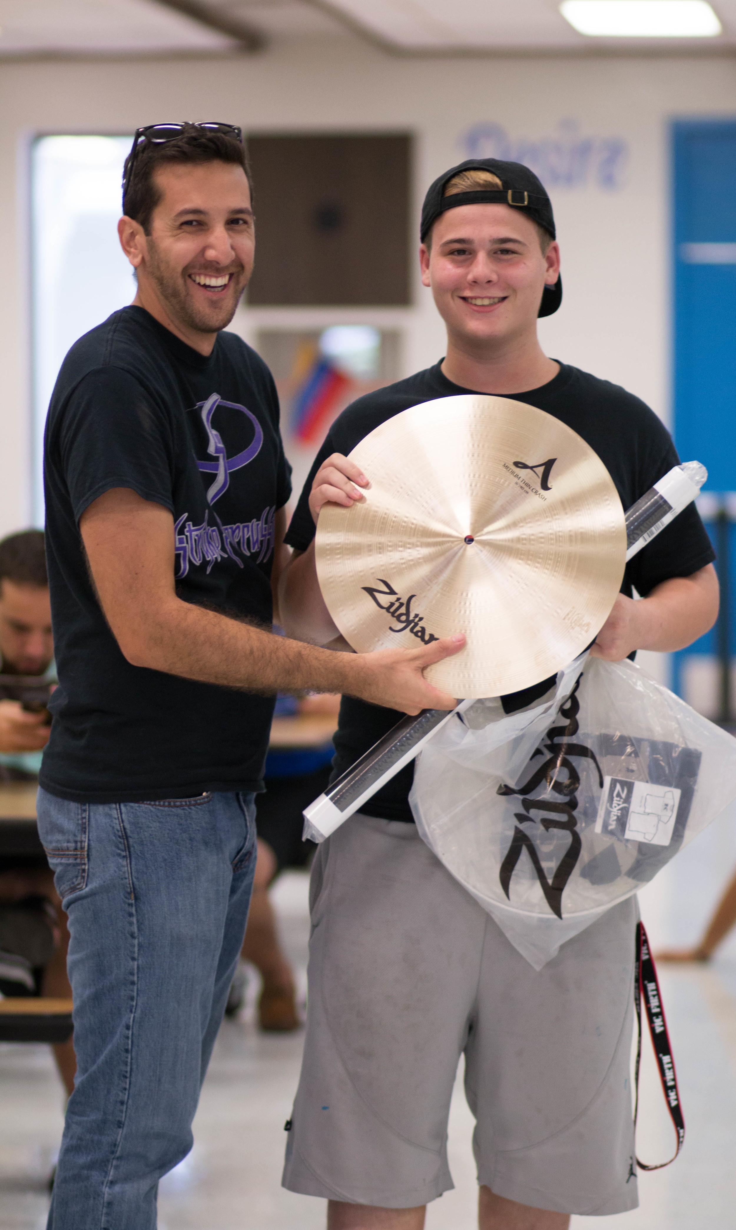 "Grand prize winner took home a 16"" Zildjian Cymbal!"