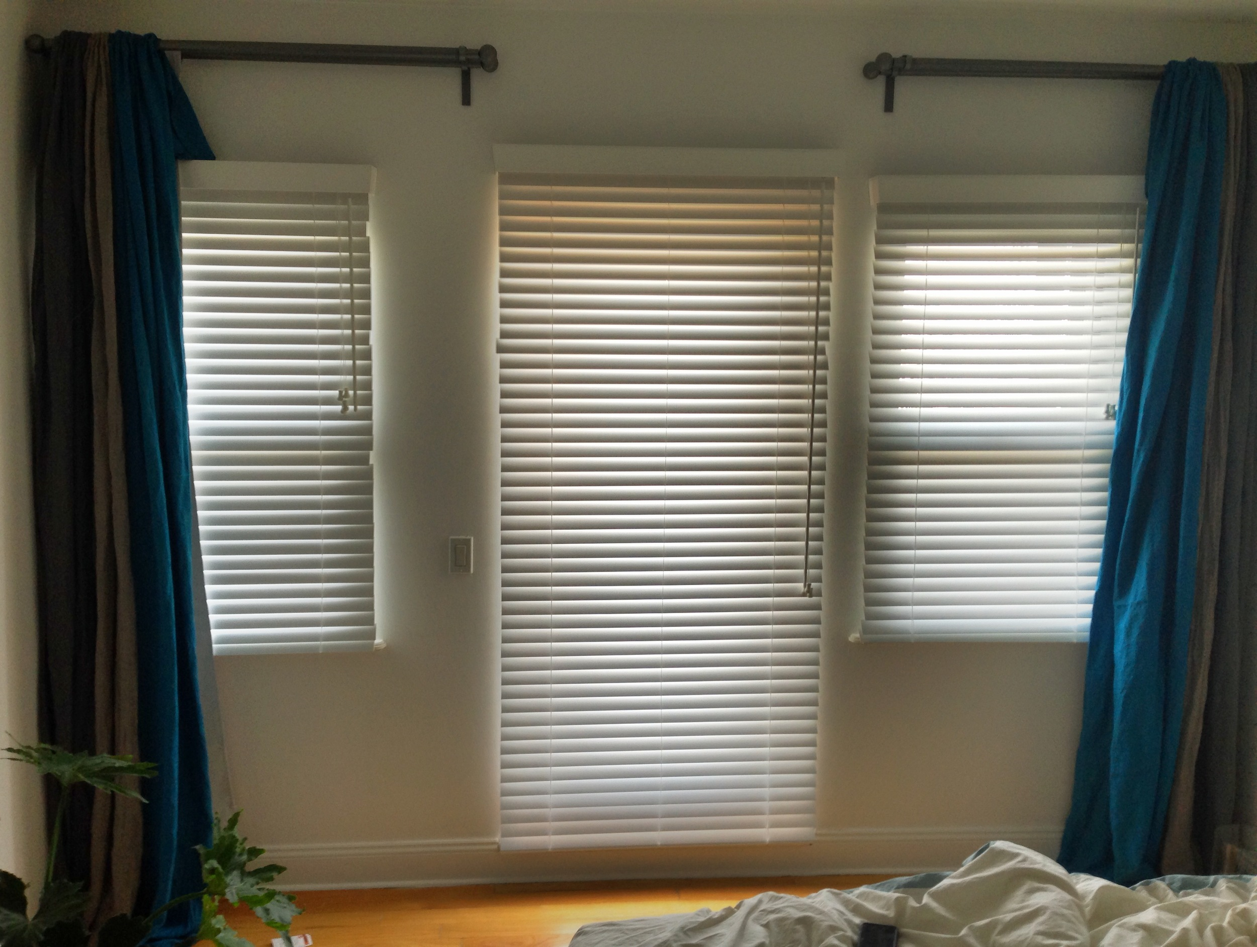 White Faux Wood blinds - Williamsburg, Brooklyn apartment