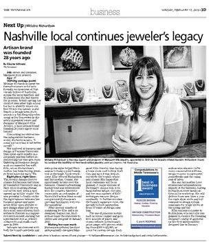 Image capture of online edition of The Tennessean on February 17, 2013