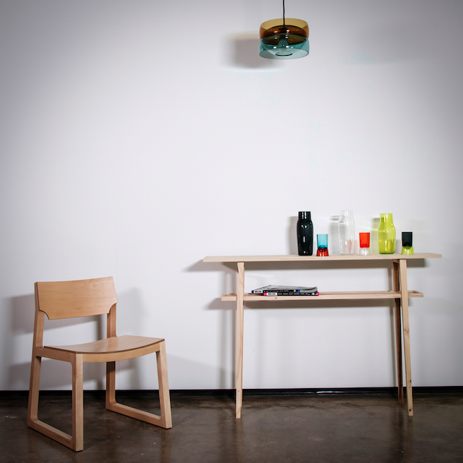 Glass by Diego Vides Borrell  Chair Jon Goulder  Table Matt Taylor  Photography Fernanda Pardo