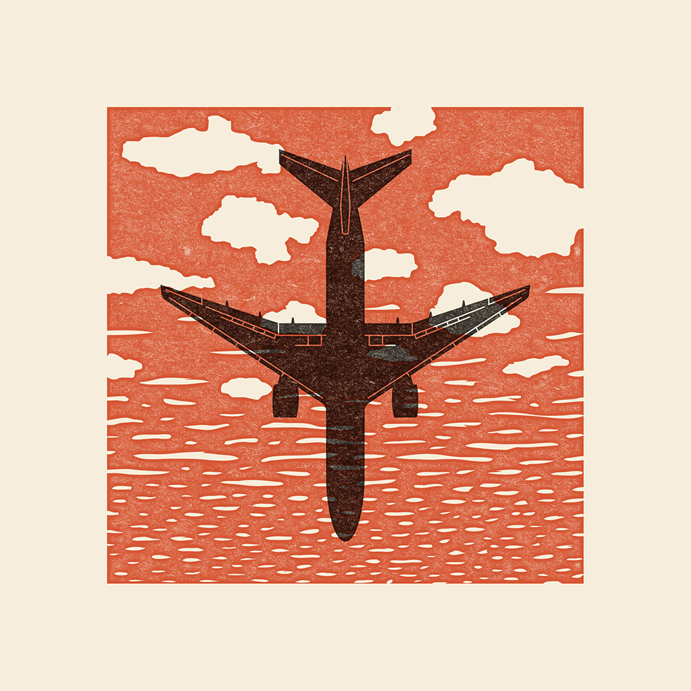 Digital sketch for (not an actual print): The disappearance of Malaysia Airlines flight MH370 on Saturday, March 8, 2014