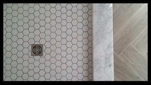 Excelsior tile shower